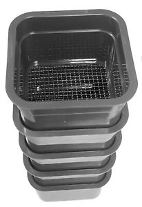 5 Piece Mesh Mini Classifier Sifting Pan Gold Panning Sluice Dredge for