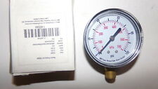 "NEW Metric Pressure Gauge 63mm 0-100 PSI 0-700 KPa 1/4"" Bronze/Brass 14EFA8"