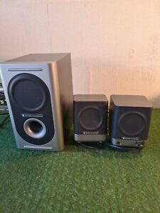 Altec Lansing 221 Amplified Speaker System Subwoofer & left and right Speakers