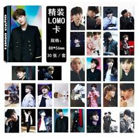 30pcs/set Kpop Bangtan Boys SUGA Poster Photo Card Lomo Card