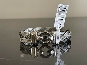 Charriol Adorable Size M Braided Collection of Silver Steel Bracelet