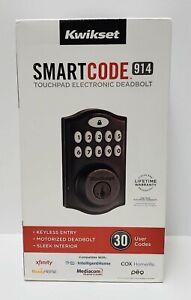 Kwikset Smart Code 914 Touchpad Electronic Deadbolt - Venetian Bronze