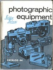 Leitz LEICA PHOTOGRAPHIC EQUIPMENT Catalog #44 Vintage Manual Camera Guide Book