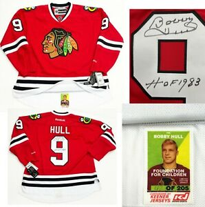 Bobby Hull Signed Keener Customized Limited Edition Jersey Chicago Blackhawks
