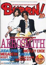 Burrn! Heavy Metal Magazine June 2005 Japan Aerosmith Angra Accept Megadeth