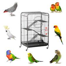 Vogelkäfig Vogel Voliere 3 Ebenen für Chinchilla Kakadu Papagei Finch Nager