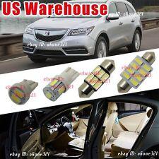 14-pc Bright White Interior LED Light Package Inside Kit For Acura MDX 2007-2009