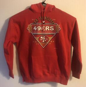 Vintage 1993 Home Team San Francisco 49ers Hooded Sweatshirt Hooded XL Red
