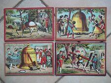 4 CARTONS DU JEU DU CHEVAL BLANC OU DE LA CLOCHE ET DU MARTEAU SAUSSINE 1885 !!!