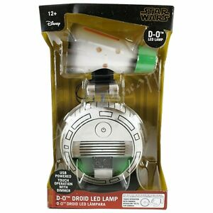 "DISNEY Star Wars 13"" D-O Droid LED Lamp Desk Night Touch Dimmer USB Power NIB"