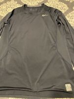 Mens Nike  Dri Fit sz XL Long Sleeve Crewneck T Shirt Black Great Shape