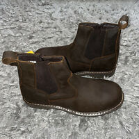"""AdTec Men's   9843 6"""" Australian Work Boot Size 12 Brand New Brown"""