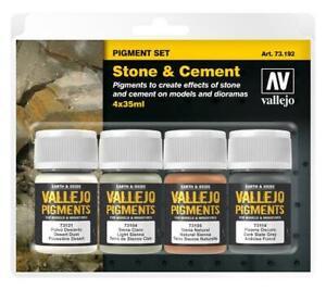 """Vallejo Pigment Set """"Stone & Cement"""" (4)"""