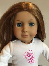 American Girl Just Like You Doll Long Reddish Brown Hair and Blue Eyes  No Bangs