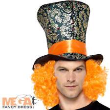Top Hat Adults Fancy Dress Wonderland Fairy Tale Mens Ladies Costume Accessory