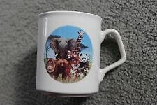 Jungle Coffee Mug - Elephant, Giraffe, Panda, Lion, Tiger, Mountain Goat, Wolf