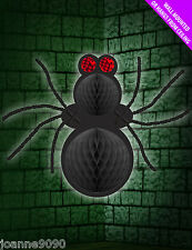 Giant Black Spider Halloween Hanging Ceiling Decoration Wall Mounted Party Prop