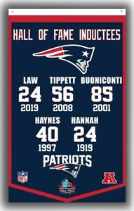 New England Patriots Hall of Fame Inductees Banner 90x150cm 3x5ft Football Flag
