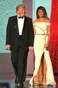 President Donald J. Trump & First Lady Melania Trump Ball Washington DC Postcard