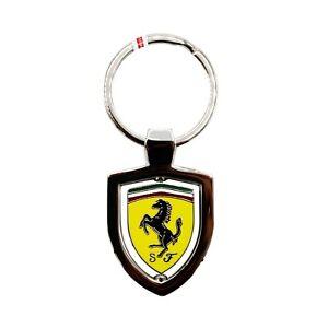 Leather Shield Keychain