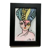 """PAINTING ORIGINAL ACRYLIC ON CANVAS PAD (FRAME INCLUDED) 4x6"""" CUBAN ART by LISA."""