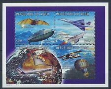 Niger 1306/09 Kleinbogen postfrisch / Zeppelin .................................