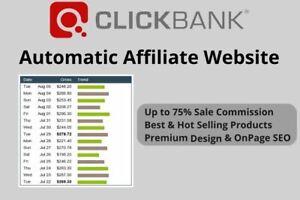 Website For Sale: MAKE $200 A WEEK! Autopilot Affiliate Website Clickbank MONEY