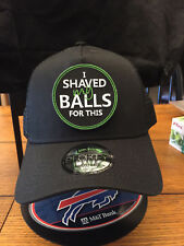 New Era NE205 SOLID BLACK Mesh Snapback Cap w/ I Shaved My Balls For This FUNNY!