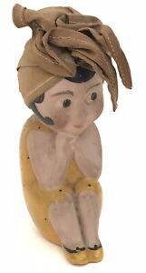 Antique Vintage Kewpie Flapper Style All Bisque Doll C.1920/30s
