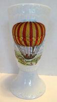 Tharaud Limoges Hot Air Balloon Wine Goblet Historical Fr. Robert 9-19-1784