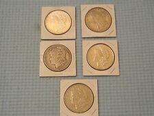 Lot of 5 US Morgan Silver Dollars