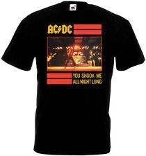 AC/DC You Shook Me All Night Long v2 T-shirt black poster all sizes S...5XL