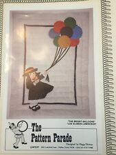 New listing Girl Bright Balloons Blanket Quilt Quilting Kit The Pattern Parade With Fabric