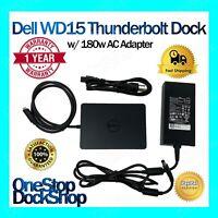 Dell WD15 Thunderbolt Dock w/ 180W AC Adapter
