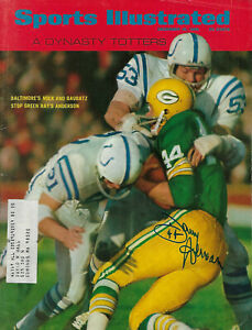 1968 PACKERS Donny Anderson signed Sports Illustrated magazine JSA COA AUTO SI
