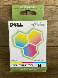 BRAND NEW Genuine DELL 9 MK991 Color Ink Cartridge Retail Box Sealed