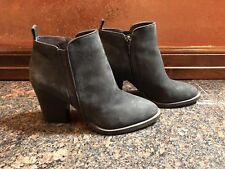 42fe74c27fe Womens Vince Camuto Micaley Battleship Gray Suede Ankle Booties Size 7