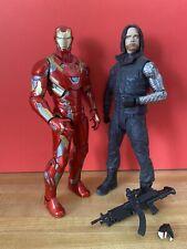 Diamond Marvel Select Figures Lot Iron Man Winter Soldier Bucky