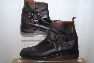 Russell & Bromley Mens Brown Leather Combat Ankle Boots Uk Size 9