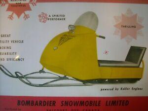 1961 Vintage BOMBARDIER SKI DOO Snowmobile Brochure