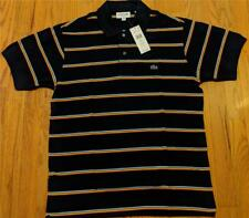 Mens Authentic Lacoste Multi Striped Polo Shirt Navy Blue 6 (XL) $110