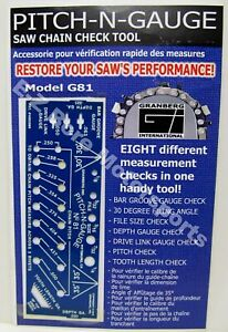 Pitch-N-Gauge Stens 705-400   Saw Chain 8 Function Checking Tool   Rotary 4248