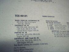 Engine Timing Cover Gasket Set-VIN: Z, Chevrolet Eng Fel-Pro TCS 45121