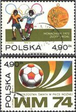 Polen 2315-2316 (kompl.Ausg.) gestempelt 1974 Fußball-WM ´74, BRD