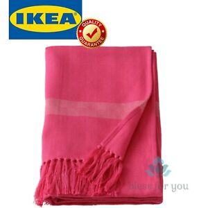 """IKEA HILLEGARD Throw Handmade Pink 43x67 """""""