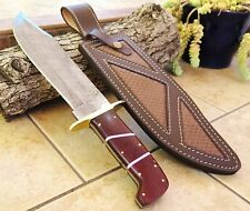 """DKC-1101 JUNGLE SCOUT Damascus Bowie Knife Blade 10"""" Blade 15."""" Overall 26oz ND-"""