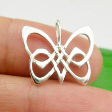 Genuine 925 Sterling Silver Solid Open Butterfly Animals Pendant Charm, P110