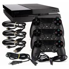 PS4 Consola CUH1004A 500gb en Negro #38 + Cable de Alimentación + HDMI + 3 Mando