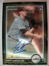 2010 BOWMAN CHROME AUTOGRAPH REFRACTOR ERIC HACKER # 216 !!,BOX # 31