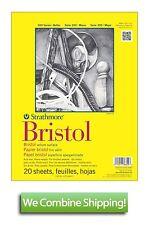 "Strathmore 300 Bristol Vellum Pad 19""x24"" 20 Sht 100lbs 342-119"